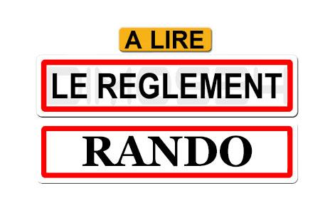 Logo reglement rando
